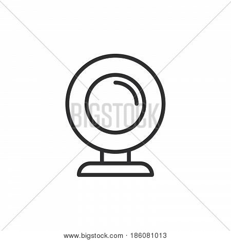 Webcam line icon outline vector sign linear style pictogram isolated on white. Symbol logo illustration. Editable stroke. Pixel perfect