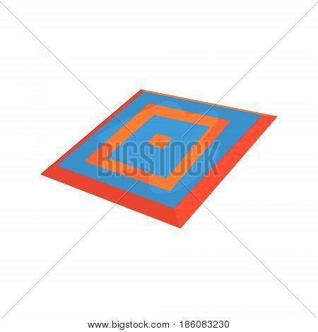 Taekwondo carpet, martial arts ring. Colorful cartoon vector Illustration isolated on a white background