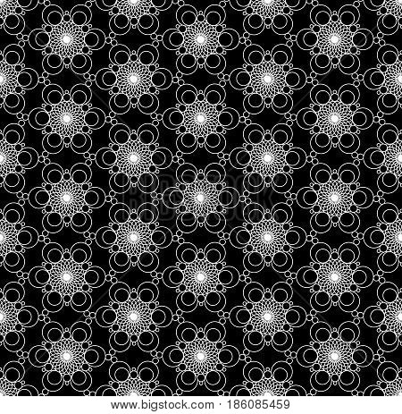 Black and White Ornament. Seamless texture. Pattern. Pattern for your product textile printing. Openwork pattern.