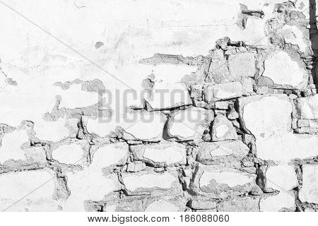 Old White  Vintage Stone Wall Background