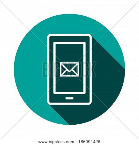 phone sms icon stock vector illustration flat design