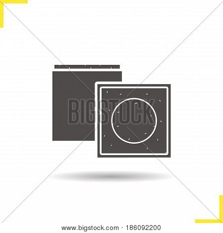 Billiard chalks glyph icon. Drop shadow silhouette symbol. Vector isolated illustration