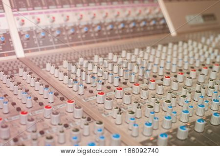 Sound recording studio, recording equipment - mixing desk