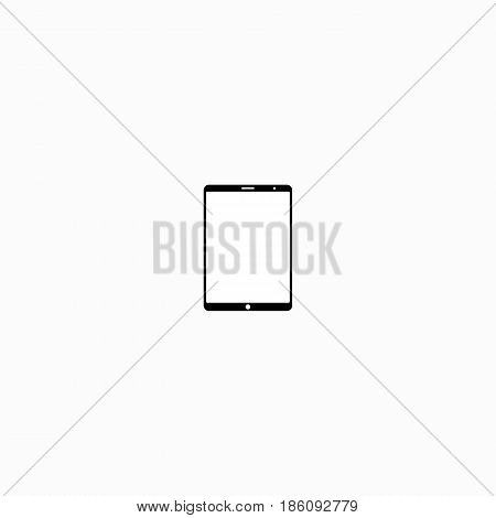 Icon of a black  the tablet on a white background, vector