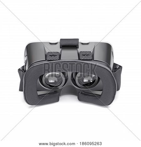 Virtual Reality Headset Isolated On White Background. Vr Headset. Video Game Glasses