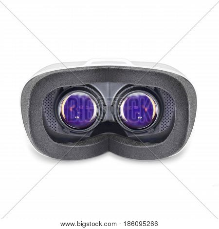 Virtual Reality Headset Isolated On White Background. Vr Headset. Video Game Glasses. Vr Glasses
