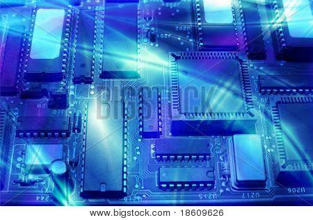 Alta tecnología - electrónica de la computadora (close up)