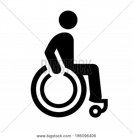 handicapped, icon isolated on white background flat style.