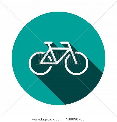 Bike icon stock vector illustration flat design