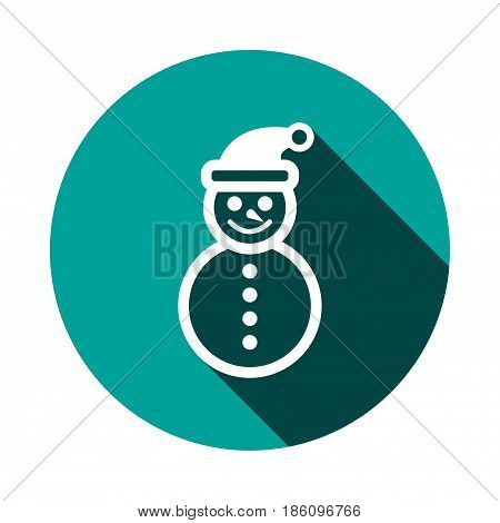 snowman icon stock vector illustration flat design
