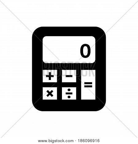 calculator icon. Symbol black on white background