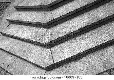 Abstract Architecture Fragment. Stairway Corner