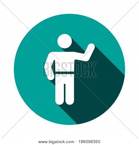 man icon stock vector illustration flat design