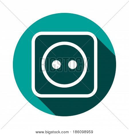 Euro socket icon stock vector illustration flat design