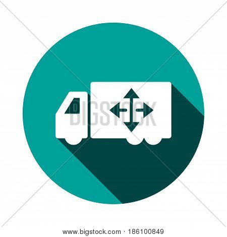 truck icon stock vector illustration flat design