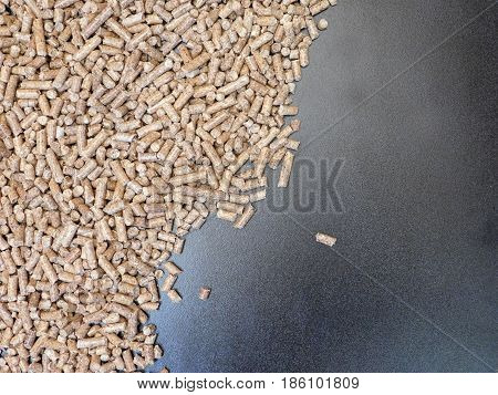 Texture of outdoor pellets in the garden