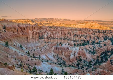 sunset at Bryce Canyon National Park Utah