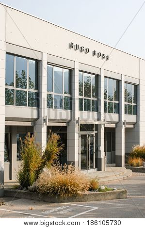 Building Of Hugo Boss Industry At Coldrerio