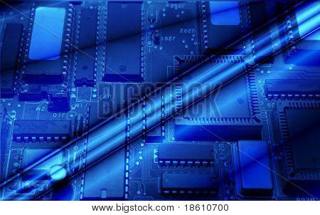 High technology - computer electronics (close up)