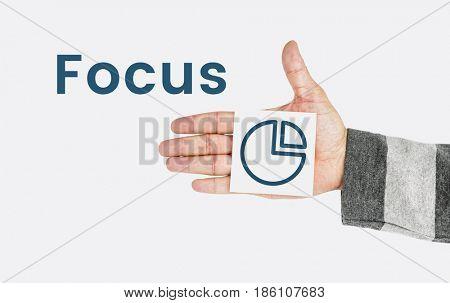 Pie Chart Objective Focus Concept