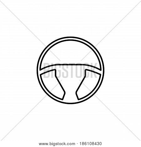 Steering wheel line icon, car element and navigation, vector graphics, a linear pattern on a white background, eps 10.