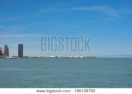 CHICAGO, IL - CIRCA MARCH, 2016: view of Navy Pier at daytime