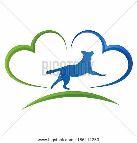 Pets insurance icon. Protect your dog symbol.