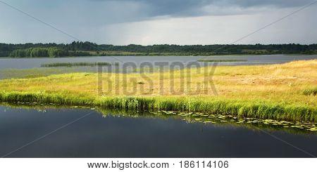 Kenozero Lake Before Rain. Evening View.