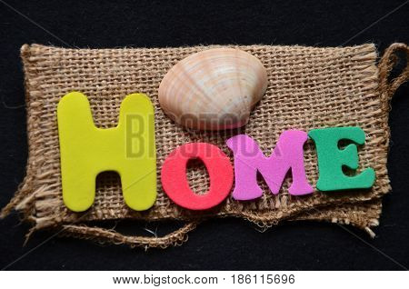 word home on a  abstract colorful  background