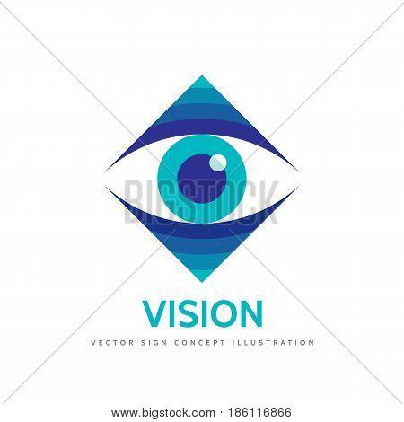Vision - vector logo template concept illustration. Human eye. Medicine ophthalmology sign. Design element.