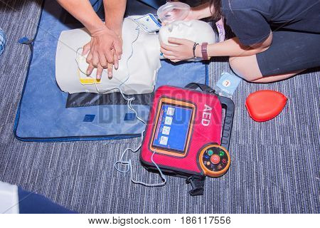 Cpr With Aed Training Dummy Basic Life Support Course