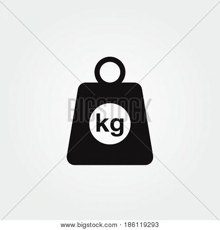 kilogram vector icon isolated on white background .