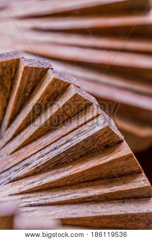 Wooden wood windbell wind chime spiral rotation