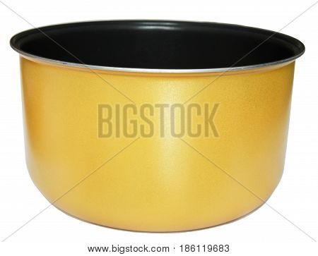 Yellow inner pot of electric rice cooker