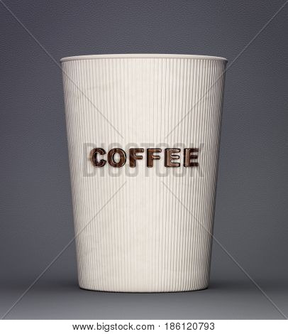 coffee cup isolated on a grey. 3d illustration