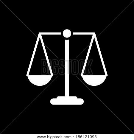 court vector icon isolated on white background .