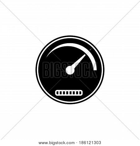 Speedometer solid icon, navigation and Tachometer, vector graphics, a filled pattern on a white background, eps 10.