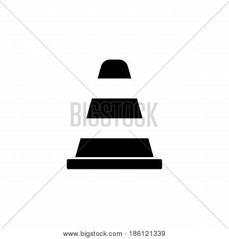 Cone solid icon, navigation and traffic warning sign, vector graphics, a filled pattern on a white background, eps 10.