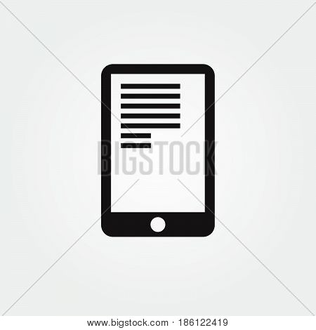 tablet vector icon isolated on white background .