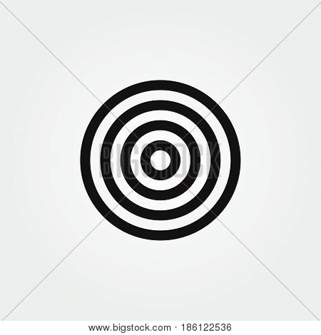 target vector icon isolated on white background .