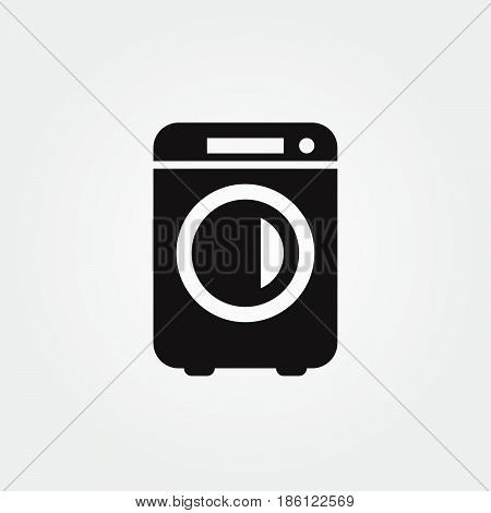 washer vector icon isolated on white background .