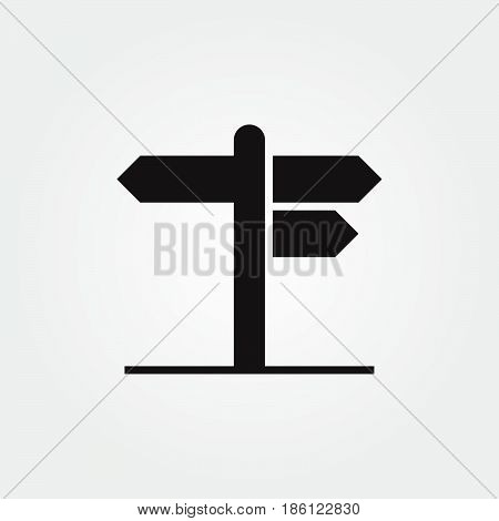 signpost vector icon isolated on white background .