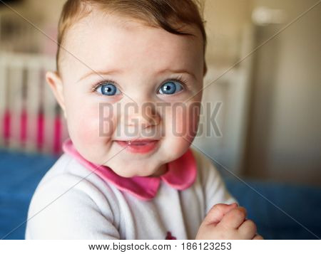 Portait Of Beautiful Baby Girl