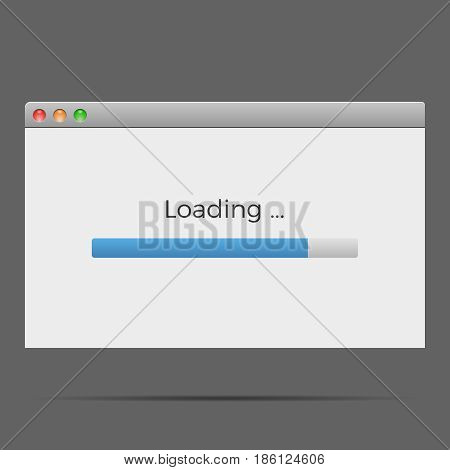 Loading window vector modern load screen computer operation