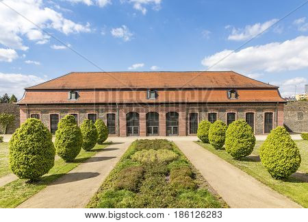 View To Old Building In The Complex Of Castle Phillipsruhe In Hanau