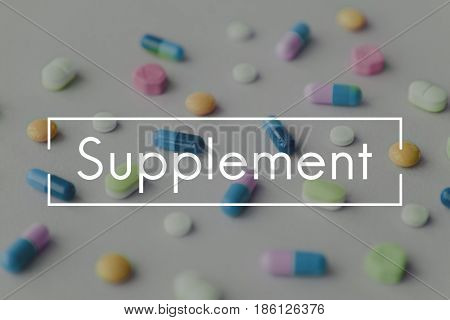 Supplement capsule care health medical
