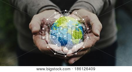 Global connection internet technology networking