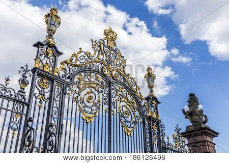 Gate Of Castle Phillipsruhe In Hanau
