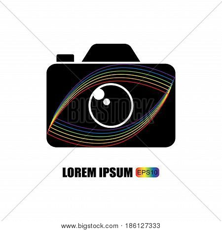 Photo logo template. Logo template photography studio, photographer, photo. Company, brand, logotype.Vector illustration.