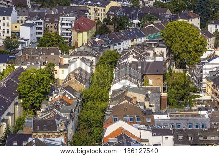 Aerial Of Typical Street In Bonn, The Former Capital Of Germany